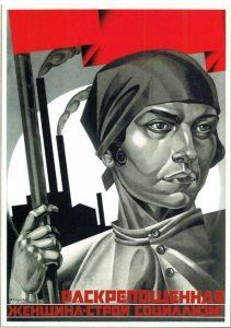 adolf-strakhov-braslavskii-emancipated-women-build-socialism-1926