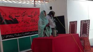 karachi-hani-baloch-addressing-at-bolshevik-day-celebrations-program