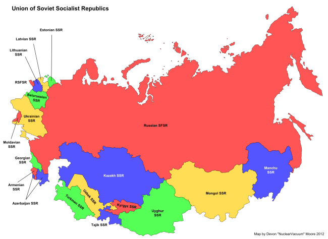 map_of_the_soviet_union_russian