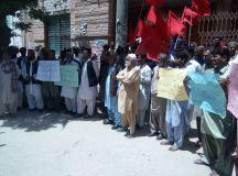 کوئٹہ: خاران میں مزدوروں کے قتل عام اور مارواڑ میں کوئلہ کانوں میں مزدوروں کی ہلاکتوں کے خلاف احتجاجی مظاہرہ