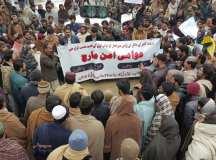 خانوزئی: اسلحہ کلچر اور امن سبوتاژ کرنے کی سازشوں کیخلاف کامیاب عوامی مارچ کا انعقاد