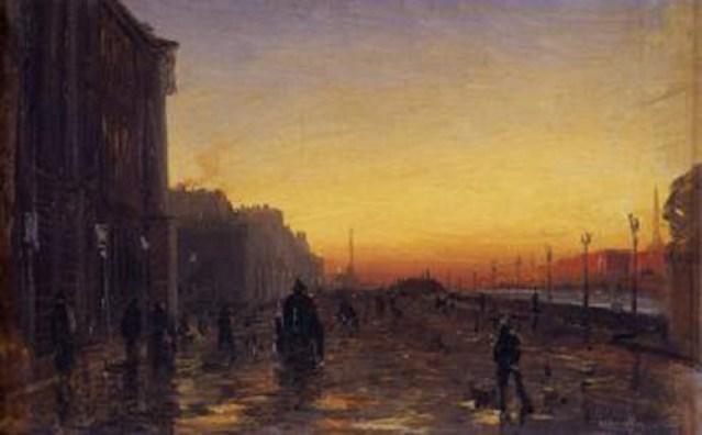 """""""Amanecer en San Petesburgo"""" por Fyodor Vasilyev (1870)"""