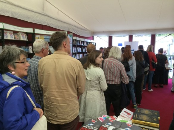 Sally signing queue @EIBF