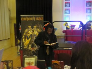 Yomi at the Clockwork Watch table
