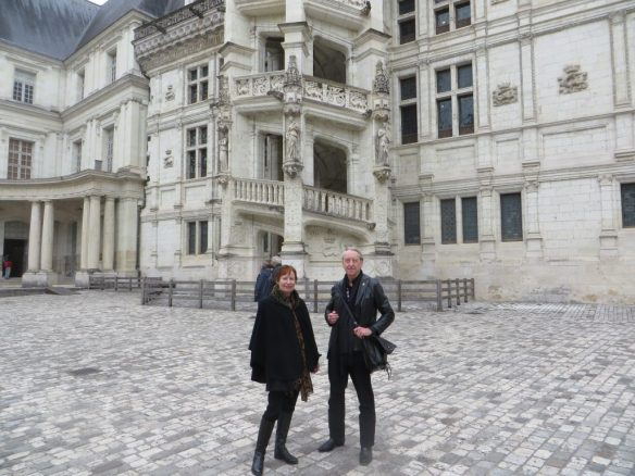 In the courtyard of the chateau in Blois