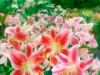 Lilies in the Garden - Mixed Media Painting - Mary Ahern