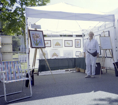 2004-08 Westhampton Beach Art Festival with the artist, Mary Ahern