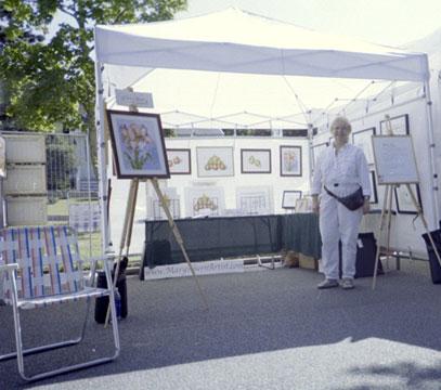 2004-08 Westhampton Beach Art Festival with the artist, Mary Ahern