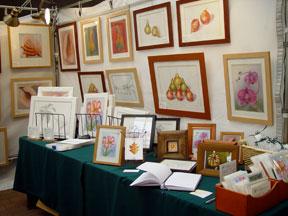 2005-01-Hicks Nursery Winterfest with the artist, Mary Ahern