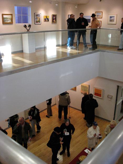 Art League of LI two tiered art gallery, Huntington NY