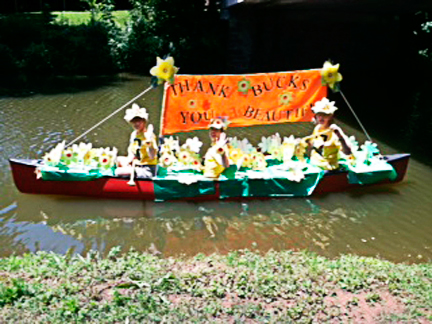 Friends of the Delaware Canal award winning entry in the Yardley Boat Parade