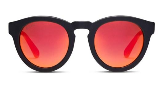 DIME II - MATTE BLACK FRAME - RED MIRROR LENS