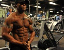 muscular man doing workout