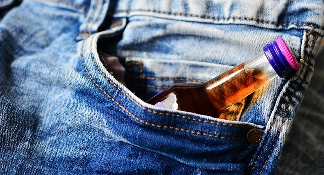 alcohol drink in the pocket