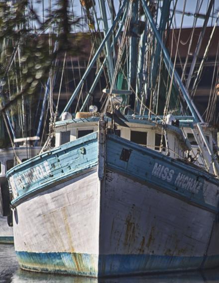Shrimp boat Miss Nichole docked in Georgetown, SC