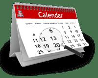 2017 Winter Season - Key Dates