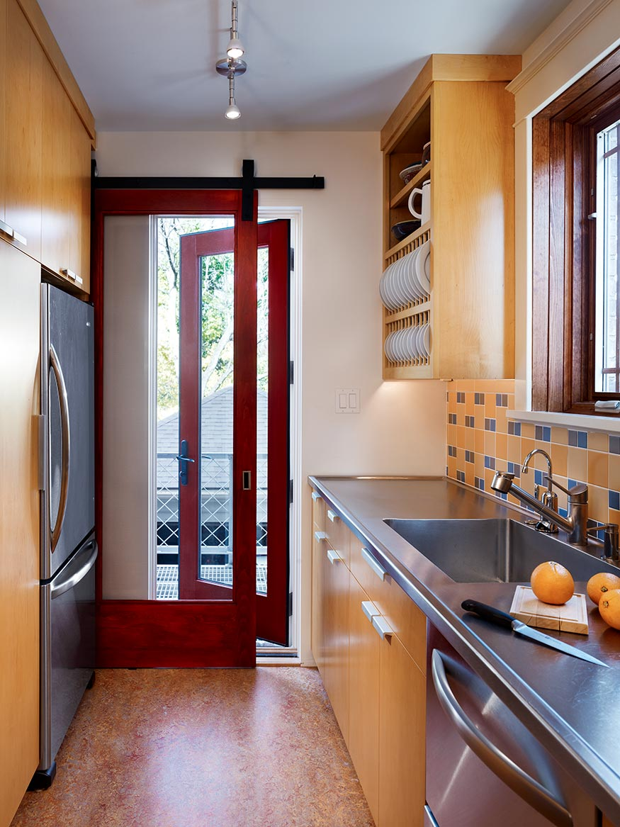 Galley Kitchen Deck Access Pittsburgh Mary Cerrone Architect