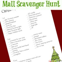 Christmas Mall Scavenger Hunt