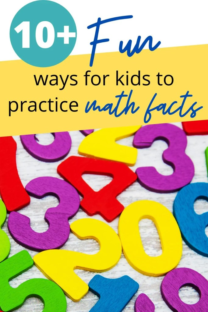 Over 10 ways for your child to practice their math facts using websites, worksheets, games, and more!