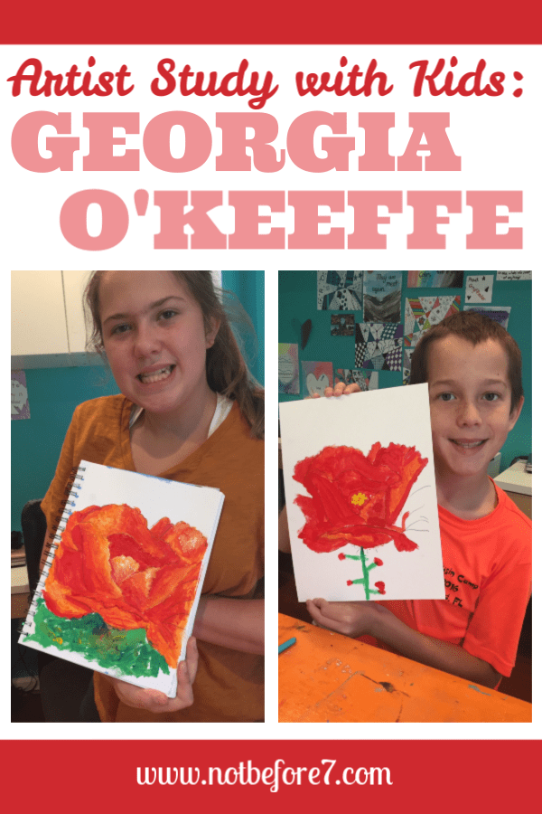 Study the life and works of Georgia O'Keeffe with your kids.