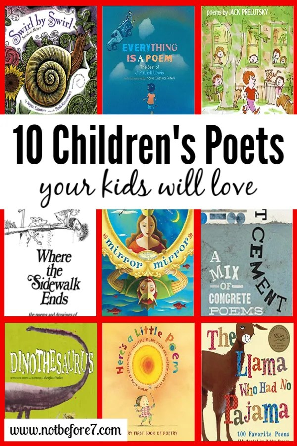 Introduce your children to poetry by reading these authors they are sure to love.