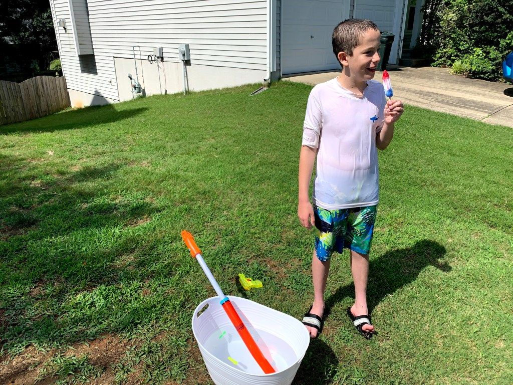 Grab a few popsicles for a break from your social distancing water games.