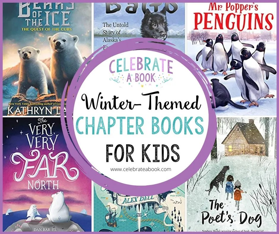 A list of winter themed chapter books for kids.