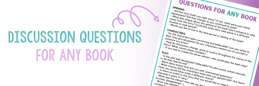 Click to download discussion questions for any book.
