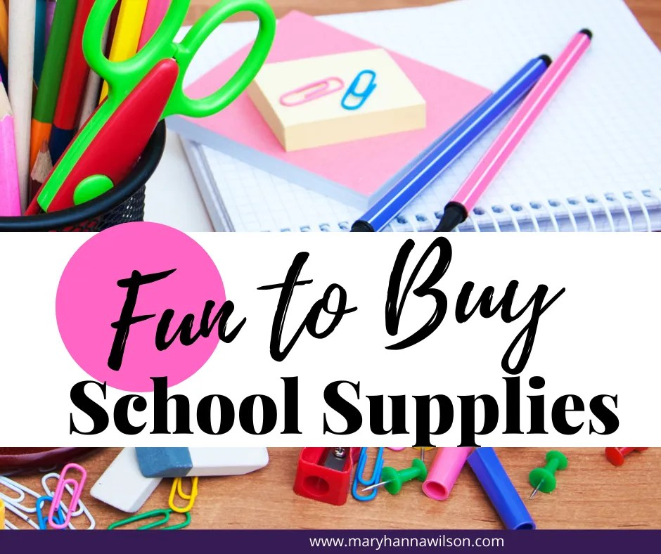 Here are Fun to Buy School Supplies