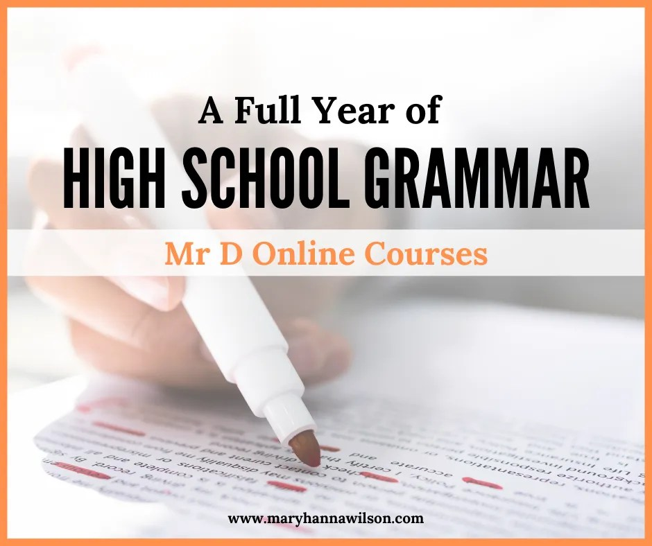 Learn a full year of high school grammar for your homeschooled teen