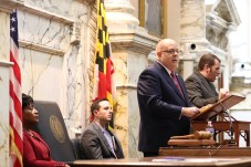 """Gov. Lawrence J. Hogan Jr. (R) said Wednesday that """"the state of our state has never been stronger"""" during his annual address to the General Assembly. Photo by Danielle E. Gaines."""