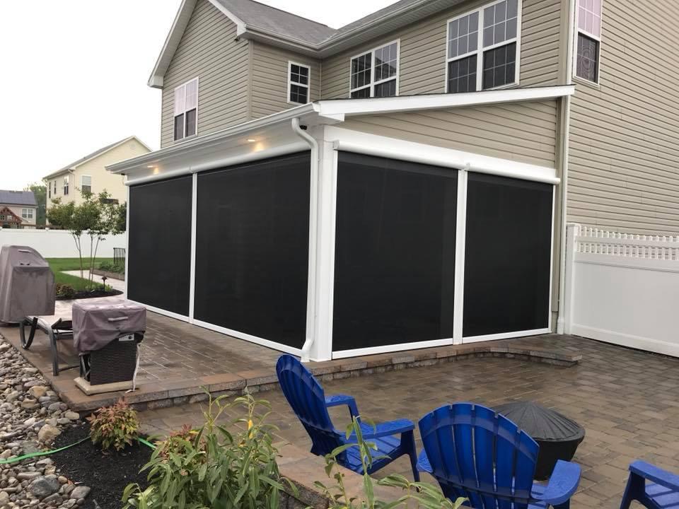 Garage Door Screens Motorized Screens Screen Porches