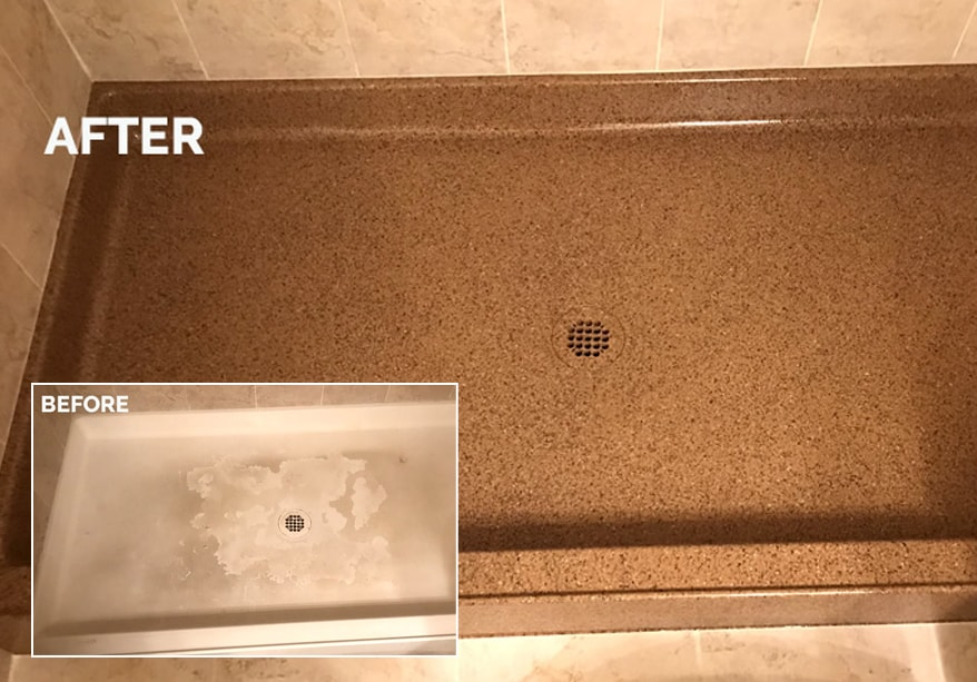 how to fix an ugly shower pan