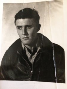 My father in the Korean War pilot's jacket I'm wearing in home page image