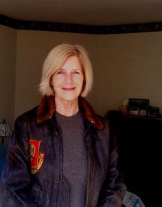 "In my Dad's flight jacket from the Korean War--my bio photo for ""Songs of Ourselves"" an anthology of writing inspired by Walt Whitman, coming out soon with Blue Heron Book Works. I edited the volume and wrote the introduction."