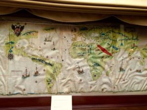 Map of the world drawn by Giovanni Vespucci, nephew of America Vespucci, in 1526. At the Hispanic Society, NYC.