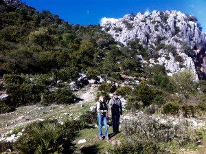 With my friend Jim Rattenbury on a hike in the Buitrera, outside Colmenar, Spain, winter 2014