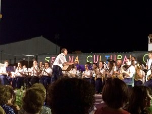 Gaucin town band performing for Semana Cultural July 2015