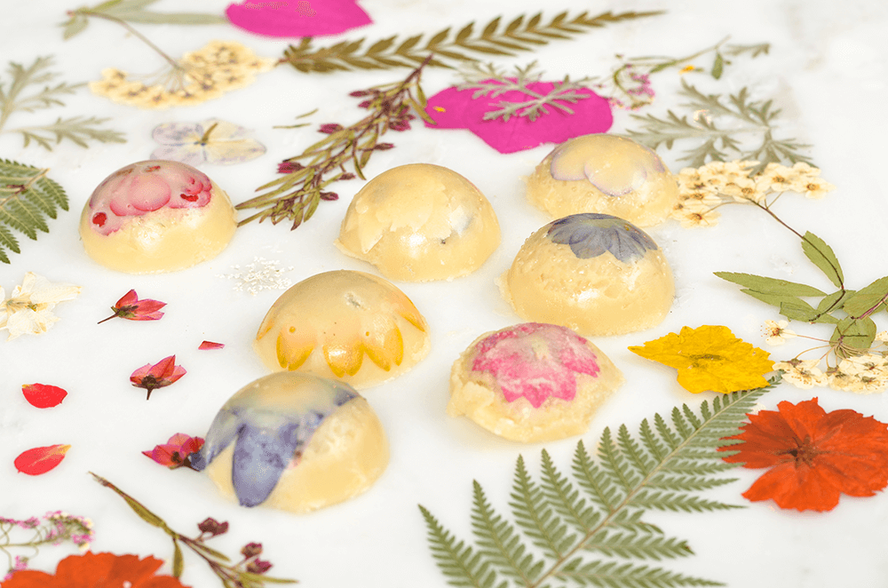 Pressed Flower Bath Melts Recipe