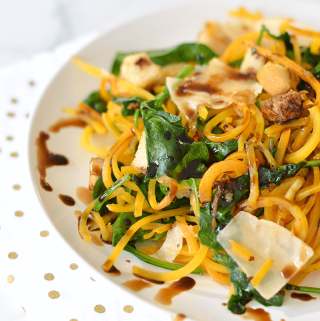 Butternut Squash Noodles with French Bread with Parmesan and Balsamic - Recipe