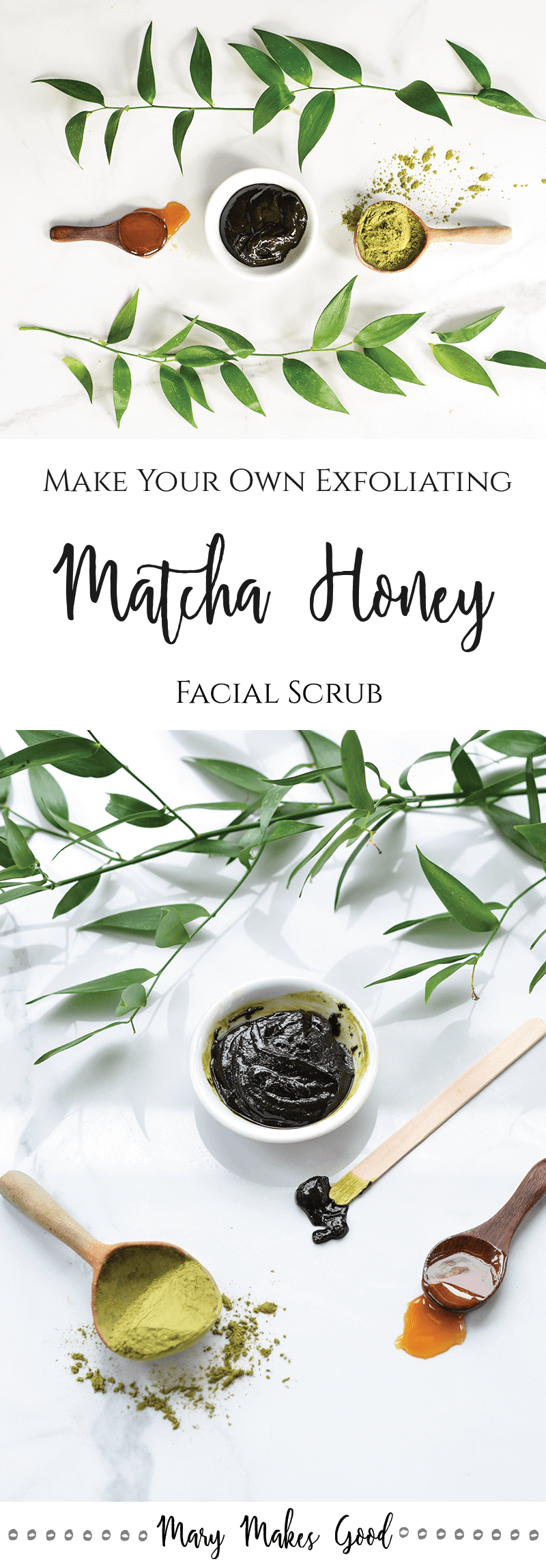 Make Your Own Match Honey Facial Scrub - A simple, three ingredient recipe