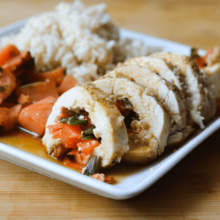 Garlic Soy Chicken Roll Ups