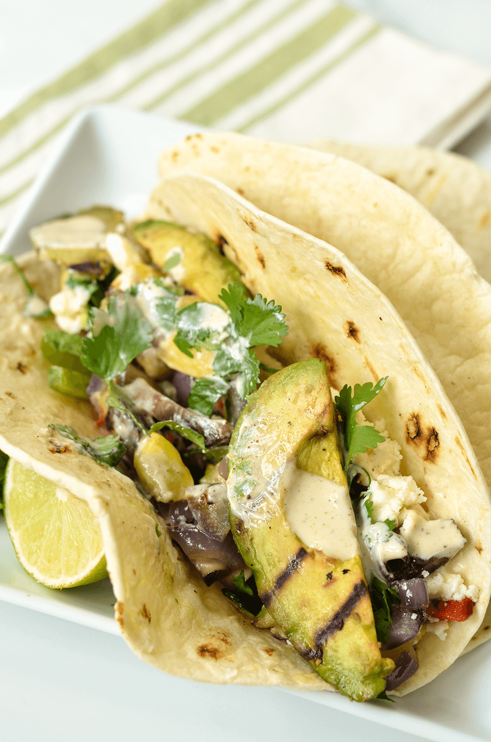Grilled Avocado and Veggie Tacos