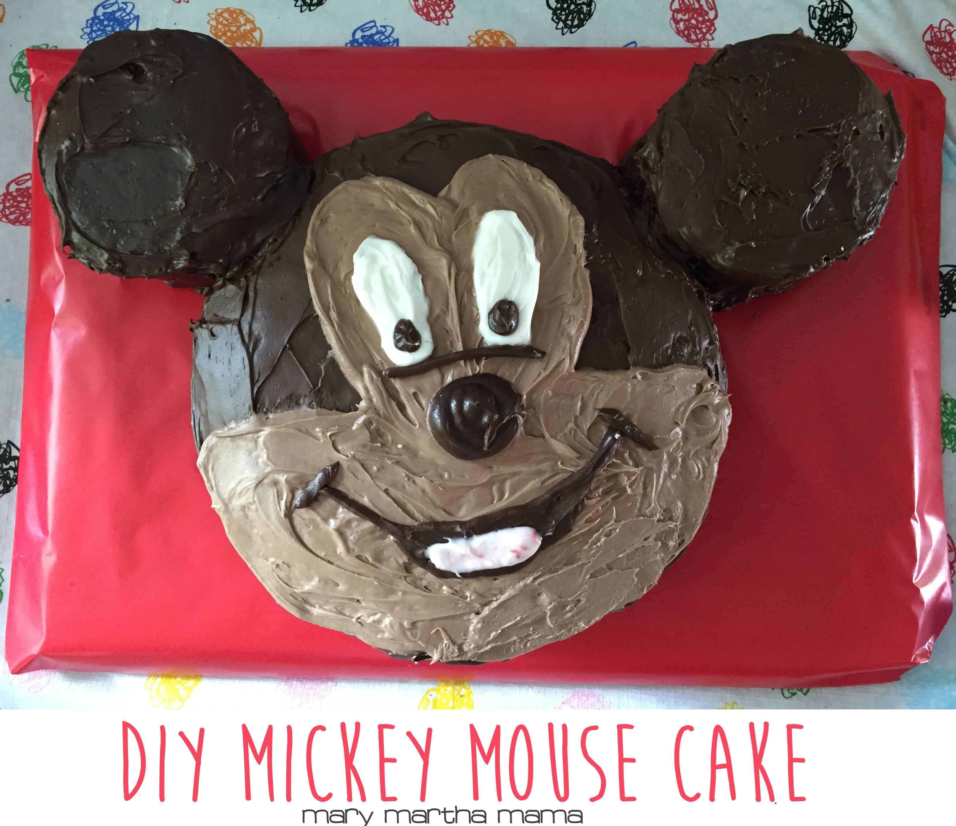 How To Diy A Mickey Mouse Cake Mary Martha Mama