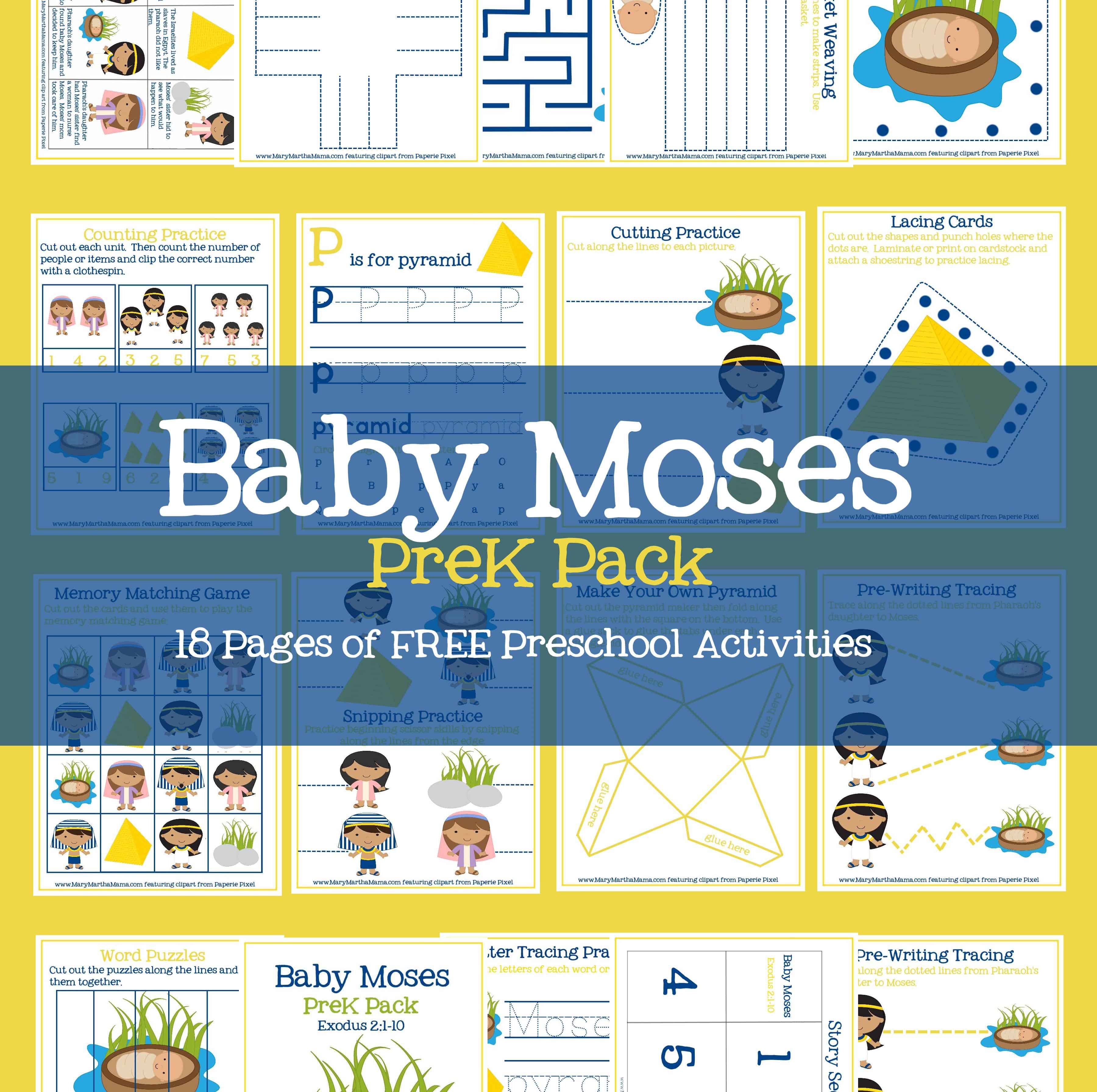 Baby Moses Activities For Prek Amp Early Elementary Mary