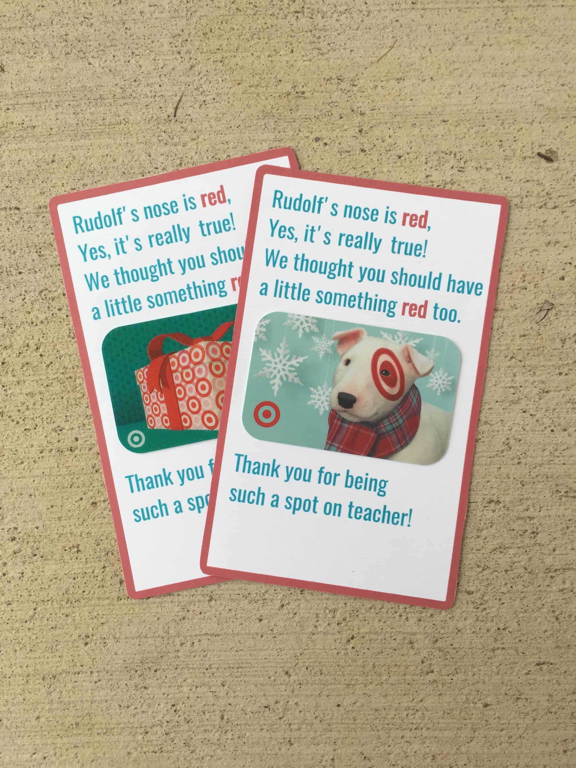 Teacher Christmas T Target T Card Printable Mary