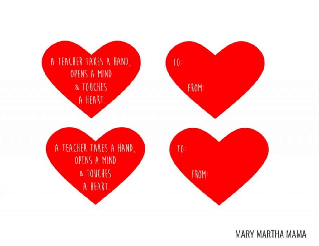 Simple Valentine S Day T For Teachers Mary Martha Mama