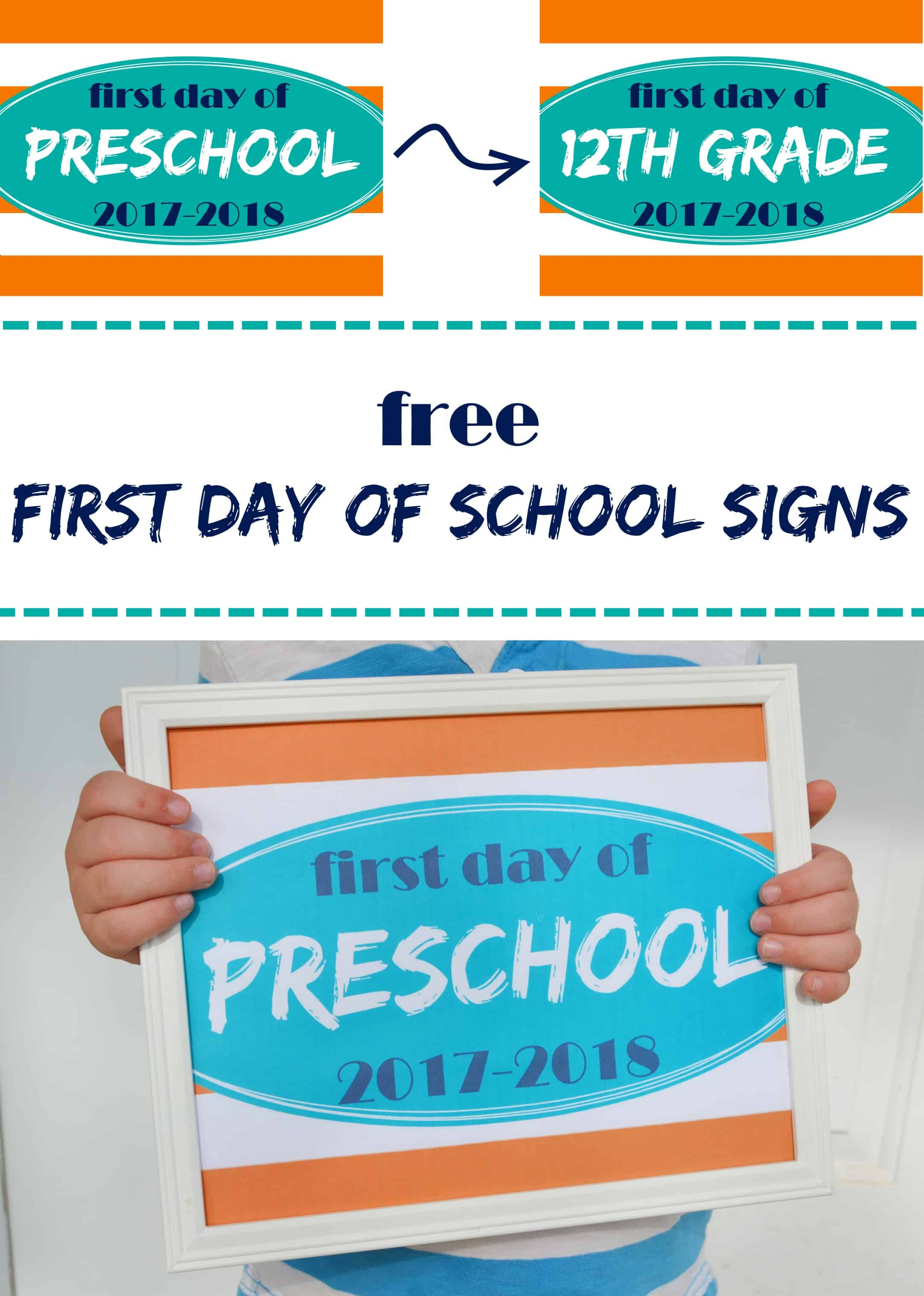 Printable First Day Of School Signs Mary Martha Mama