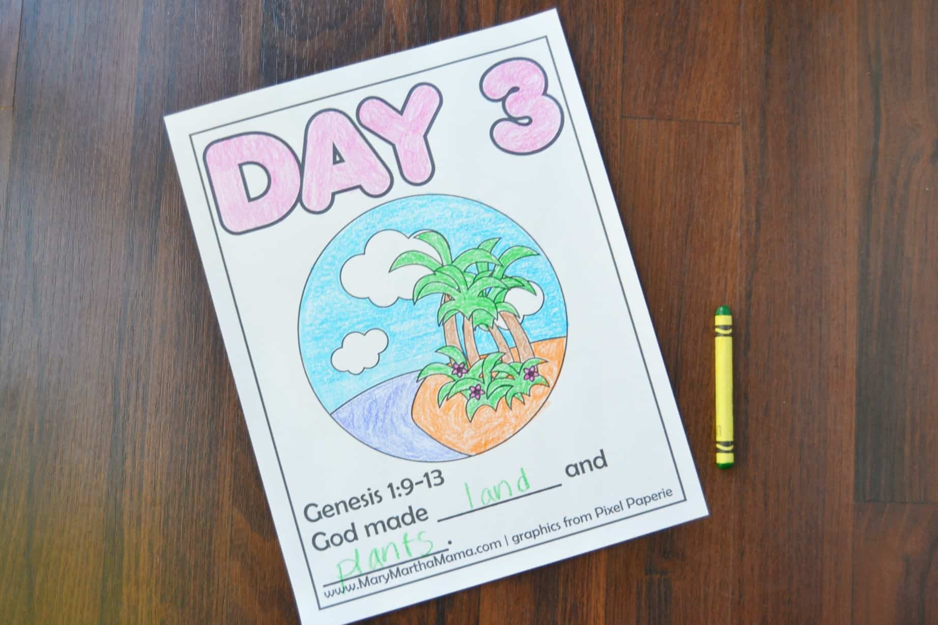 Creation Coloring Pages Help Kids Learn The Story Mary