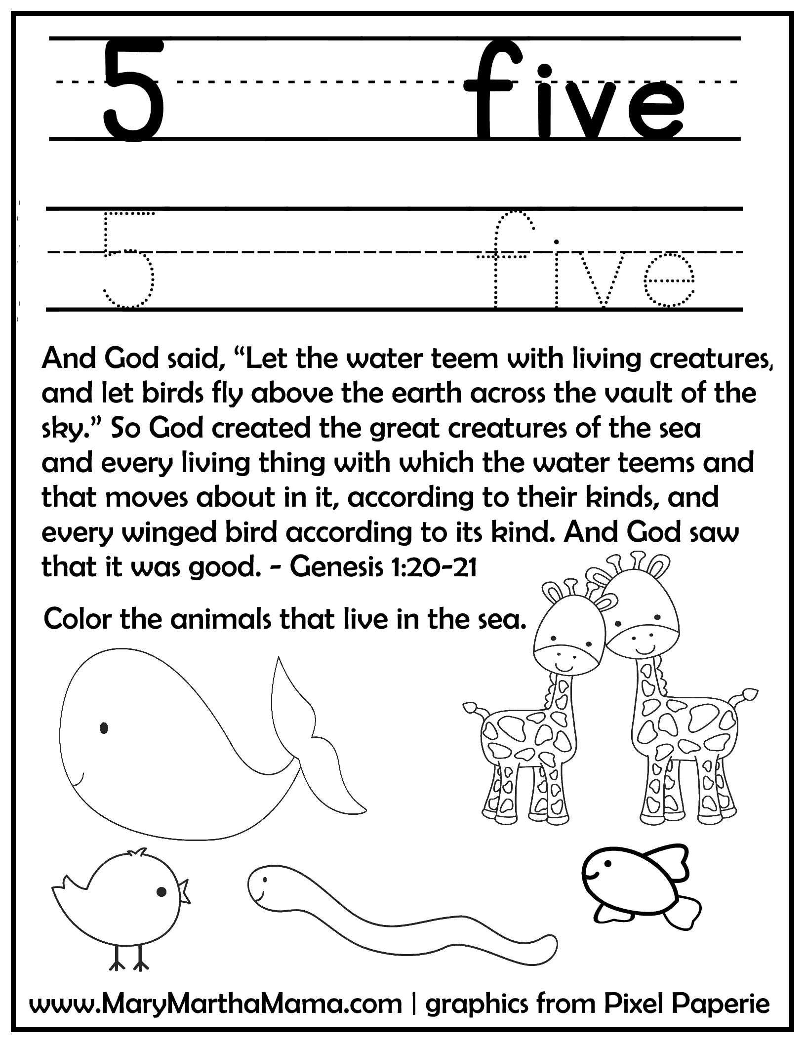 Creation Story For Kids Free Printable Activities Mary